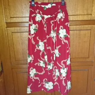 インゲボルグ(INGEBORG)の7【インゲボルグ】赤 花柄ロングスカート(ロングスカート)