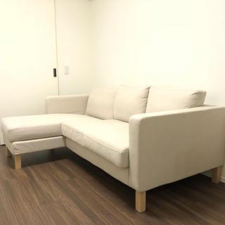 イケア(IKEA)の美品☆IKEA 3人掛けソファー L字ソファー(三人掛けソファ)
