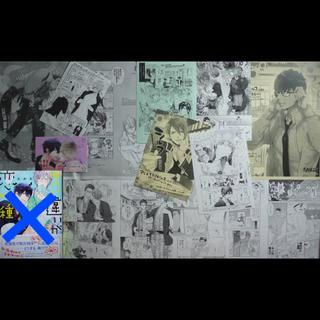 おわる BL漫画 ペーパー27種+カード付き セット(BL)