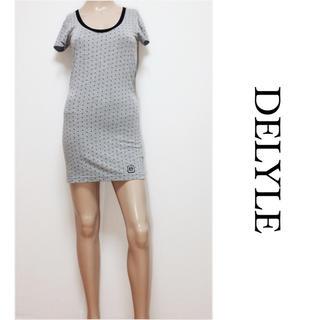 デイライル(Delyle)のDELYLE ▶︎ハート ドット柄 Tシャツ ワンピース♡リップサービス(ミニワンピース)