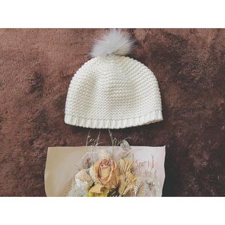 アーベーセーアンフェイス(abc une face)のベビーニット帽(帽子)