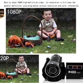 【お買い得】 ビデオカメラ トイカメラ 【ブラック】 HD 1080P(ビデオカメラ)