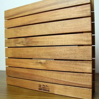 天然木折りたたみテーブル(携帯バッグ付き)(アウトドアテーブル)