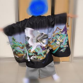 お取り置き専用!七五三 5歳 男 袴!10点セット!(和服/着物)