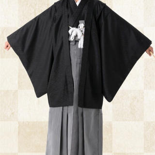 成人式 卒業式 男性 羽織袴セット (和服/着物)