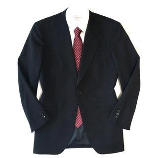 ダーバン(D'URBAN)の極美品★ダーバン☆ピュアウール◎ネイビー織り柄ジャケット★94A6(L☆404(テーラードジャケット)