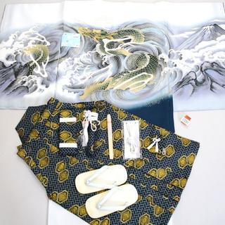 七五三 5歳 五才 新品 羽織 袴 着物セット 龍刺繍 紋袴 5才NO13391(和服/着物)