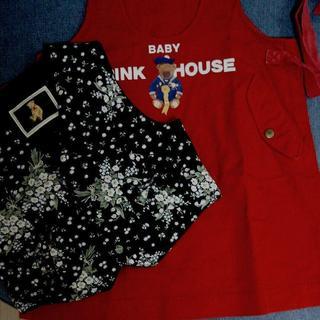 ピンクハウス(PINK HOUSE)のベビーピンクハウス 100~110(S)ジャンパースカート クマ(ワンピース)