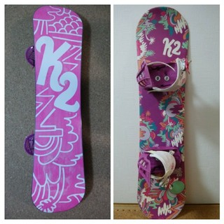 ケーツー(K2)のスノーボード 子供用3点セット(ボード)