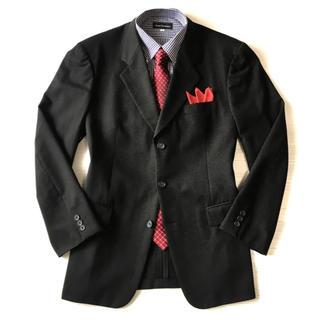 ダーバン(D'URBAN)の極美品★ダーバン☆ブラック織り柄ジャケット☆96A7(XL☆370(テーラードジャケット)