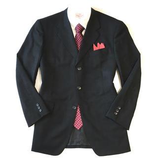 ダーバン(D'URBAN)の極美品★ダーバン☆上質チャコールグレー織り柄ジャケット☆92A5(M☆390(テーラードジャケット)