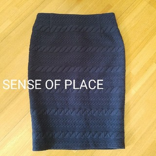 SENSE OF PLACE 膝丈タイトスカート