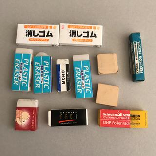 トンボエンピツ(トンボ鉛筆)の使いかけ、未使用 消しゴム 12点(消しゴム/修正テープ)