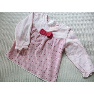 シシュノン(SiShuNon)の綿100%♪ シシュノン 薄手トレーナー ピンク 90(Tシャツ/カットソー)