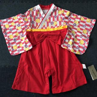 袴ロンパース ベビー服 お食い初め(和服/着物)