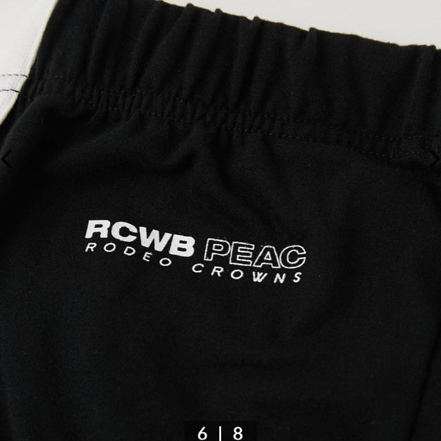 RODEO CROWNS WIDE BOWL(ロデオクラウンズワイドボウル)のPEAC ラインレギンス ブラック レディースのレッグウェア(レギンス/スパッツ)の商品写真