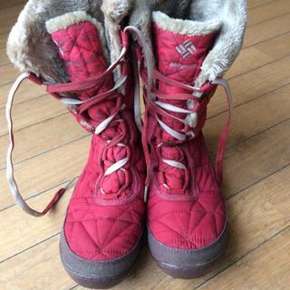 コロンビア(Columbia)のコロンビア    レディース    赤  あったかブーツ    (ブーツ)