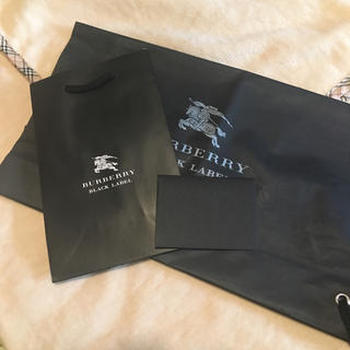 バーバリーブラックレーベル(BURBERRY BLACK LABEL)のバーバリー 袋 ショップ袋(ショップ袋)