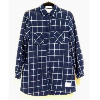 シマムラ(しまむら)の裏ボア ロングチェックシャツ(ロングワンピース/マキシワンピース)