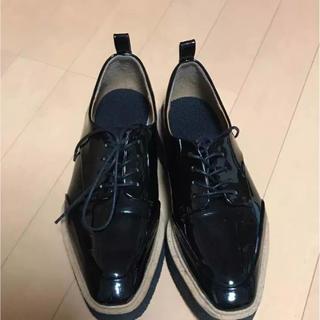 ザラ(ZARA)のZARAプラットフォームシューズ39(ローファー/革靴)