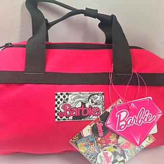 バービー(Barbie)の新品 タグ付 Barbie バービー ミニボストン  缶バッチ付 ラスト出品(ショルダーバッグ)