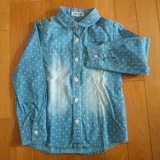 シューラルー(SHOO・LA・RUE)のシューラルー ダメージ加工 デニムシャツ 水玉(Tシャツ/カットソー)