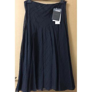 ダナキャラン(Donna Karan)の💕新品タグ付✨高級ダナキャラン✨シルクスパンコールビジュー☆クチュールスカート(ひざ丈スカート)