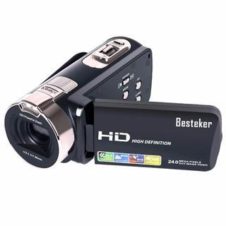 ビデオカメラ Besteker ポータブルビデオカメラ 2400万画素 HD10(ビデオカメラ)