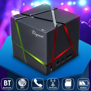 即買いOK★Bluetoothスピーカー重低音 LEDライト搭載(スピーカー)