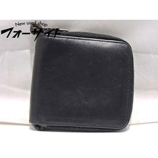 ダブルジェーケー(wjk)のwjk☆ブラック レザー コンパクト ラウンドファスナー 折り 財布(折り財布)