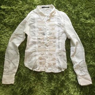マリテフランソワジルボー(MARITHE + FRANCOIS GIRBAUD)のGIRBAUD ジルボー ♡ コットン 刺繍 シャツ(シャツ/ブラウス(長袖/七分))