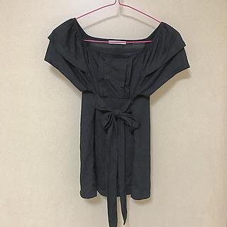 エルプラネット(ELLE PLANETE)のElle planete リボントップス(Tシャツ(半袖/袖なし))