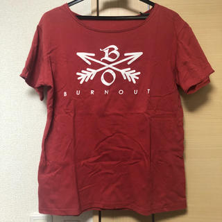 エム(M)のBURNOUT クロスドアローTシャツ(Tシャツ/カットソー(半袖/袖なし))