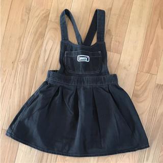 シーシーアールティー(CCRT)のCRT love cutie  可愛い黒デニムジャンパースカート(スカート)