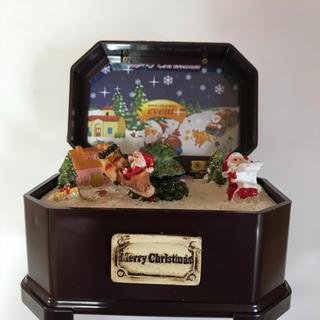 クリスマス ボックスミニ フライングサンタ オルゴール(オルゴール)