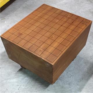 将棋盤 脚付 昭和 骨董 縦36.5×横32.5×高さ28cm/厚み17cm(囲碁/将棋)