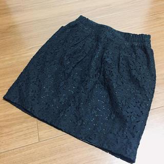 オペーク(OPAQUE)のレーススカート(ひざ丈スカート)