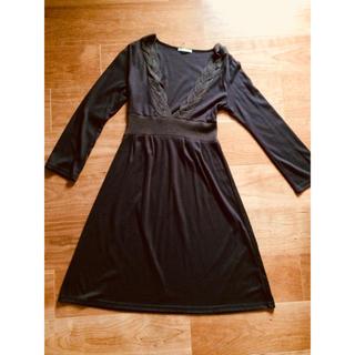 ジャスミン(ジャスミン)の16e jasmin 茶色 ワンピース 長袖 38 M(ひざ丈ワンピース)
