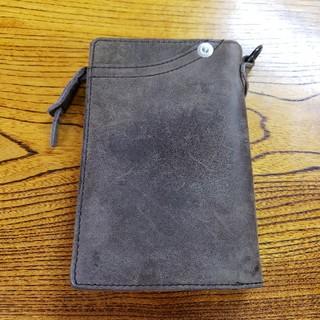 コルボ(Corbo)の美品 コルボ CORBO 二つ折り財布 レザー ダークブラウン  L字ファスナー(折り財布)