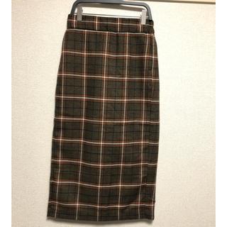 ジーユー(GU)のGUミディ丈チェックタイトスカート(その他)