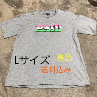 """ナイトレイド(nitraid)のnitraid """"RAID"""" T-Shirt [L/GRAY] 美品(Tシャツ/カットソー(半袖/袖なし))"""