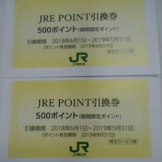 ジェイアール(JR)のJR東日本株主優待割引券のJREポイント引き換え券2枚セット300円(ショッピング)