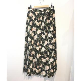 インゲボルグ(INGEBORG)のインゲボルグ 花柄 バラ柄 ロングスカート(ロングスカート)