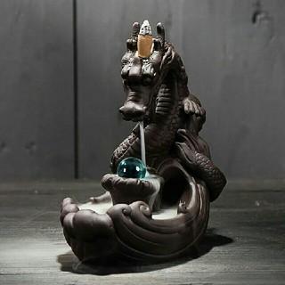 倒流香用 龍の香炉 青い玉ドラゴン お香 即納☆☆(お香/香炉)