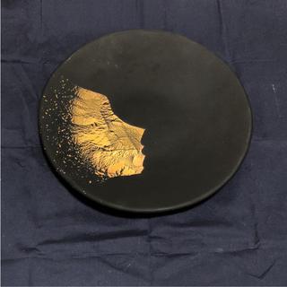 金箔 陶器 皿 未使用(陶芸)