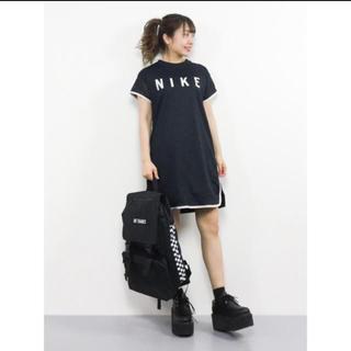 ナイキ(NIKE)のNIKE ワンピース (ネイビー)(ひざ丈ワンピース)