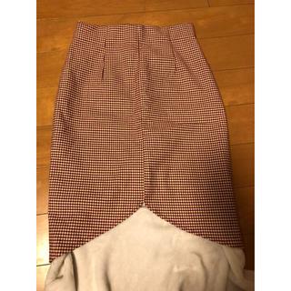 アグノスト(AGNOST)の千鳥格子 ペンシルスカート タイトスカート(ひざ丈スカート)