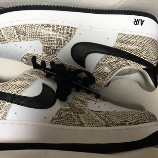 最安 27 新品 NIKE AIR FORCE 1 白蛇 cocoa snake(スニーカー)