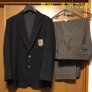 普通にスーツとしても★中学校制服★ブレザーM★ズボンウエストは76★京都右京区(その他)