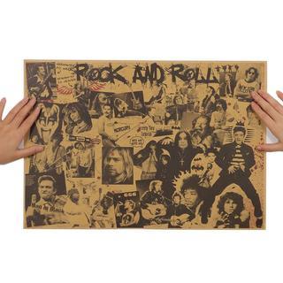 【新品*送料無料♪】 ロックレジェンド シンガー クラフト ペーパー ポスター(印刷物)